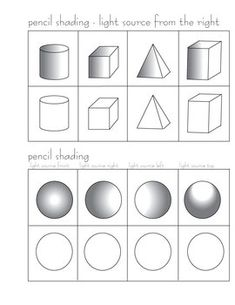 Pencil Shading Worksheets | PENCIL SHADING ACTIVITY - TeachersPayTeachers.com