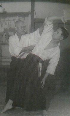 Ueshiba Morihei and Shioda Gozo, 1940
