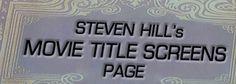 Vintage Movie Title Screens