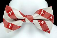 New University of Alabama Plaid Mens Bow Tie Adjustable Red College Logo Bowtie #EaglesWings #BowTie