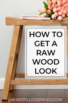 How to use Antiquing Wax on Raw Wood for a Natural Rustic Finish How to get that beautiful natural wood look on refinished furniture. I've included a complete DIY tutorial with products and techniques. Natural Wood Furniture, Furniture Wax, Furniture Projects, Wood Projects, Refinished Furniture, Office Furniture, Diy Furniture Refinishing, Natural Wood Decor, Furniture Design