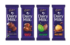 Pearlfisher have created a new brand world for Cadbury Dairy Milk that spans… Dairy Milk Chocolate, Cadbury Dairy Milk, Cadbury Chocolate, Chocolate Art, Food Packaging Design, Beverage Packaging, Biscuits Packaging, Happy Birthday 18th, Chocolate Pictures