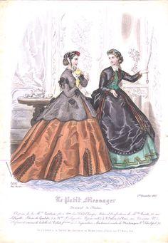 Fashion plate, 1865 France, Le Petit Messager