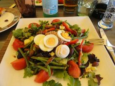 Beautiful salad nicoise I ate in Beaulieu in the South of France in September - just perfect !