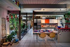 Eichler house- created inside and out by the Eichler team, and lived in by one of its members, who was also a professor at Stanford for 60 years.