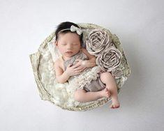 bfe2c037a PREORDER Newborn Girl Mocha Romper, Newborn Ruffle Romper, Newborn Girl  Photo Outfit, Newborn