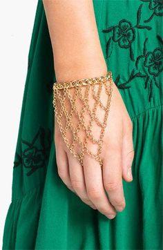 Beautiful Gold Hand Chain Bracelet / Slave Bracelet