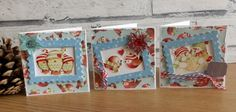 Helz Cuppleditch - Winter Woodland cute mini Christmas cards by Maxine