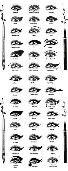 The biggest collection of black eyeliner styles I have ever seen!