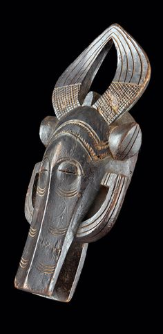 Africa | Mask from the Senufo people of the Ivory Coast | Wood