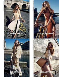 Designer: Sonia Rykiel, Model: Constance Jablonski. From Nymag.com