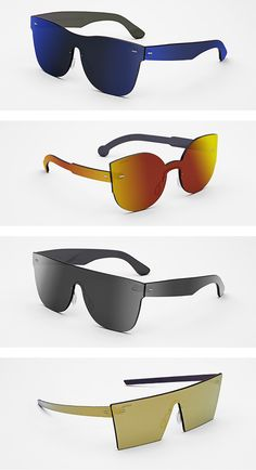 d9343d3e46 A Bright Future  Every Bit of These Futuristic Sunglasses Are Made of Lens  Glass