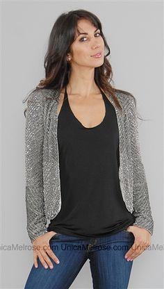 Parker grey & silver sequin jacket