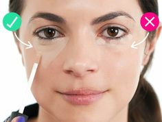 comment appliquer un anti-cerne, la technique du triangle inversé, les bases pour un maquillage naturel
