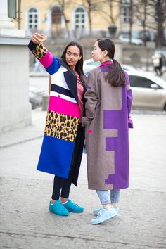Colorful statement coat
