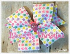 Star sweet but simple bow on a lined alligator clip  4.00