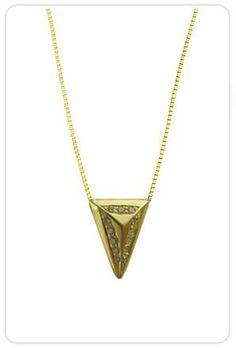 Ariel Gordon Jewelry Pave Tetra Spike Necklace at ShopGoldyn.com