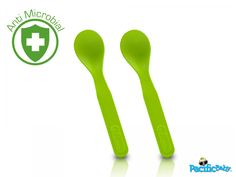 Organic toddler spoons.  No BPA or plastic.  Totally biodegradable.  From Pacific Baby.