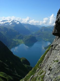 Hjørundfjorden, Norway... no clue how to pronounce it but it's a beautiful place
