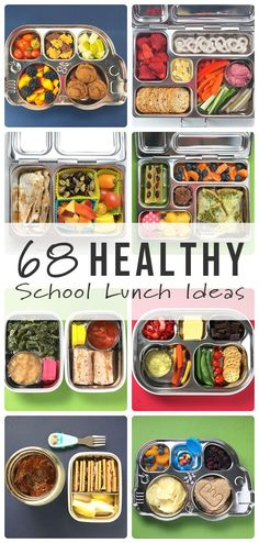 Packing a healthy fun colorful lunch your kids will devour just got a whole lot easier Check out these 68 Healthy School Lunch ideas for your toddler or school aged child. Healthy Lunches For Kids, Lunch Snacks, Clean Eating Snacks, Healthy Drinks, Healthy Snacks, Healthy Recipes, Healthy Lunchbox Ideas, Healthy Cooking, Bag Lunches