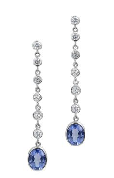 Diamond Earing, Diamond Drop Earrings, Sapphire Earrings, Cute Jewelry, Vintage Jewelry, Fashion Earrings, Fashion Jewelry, Ceylon Sapphire, Sapphire Diamond
