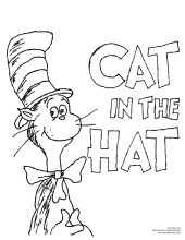 The Cat in the Hat never gets old. Download the coloring sheet.