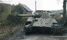 Königstiger 104 Commander Kompanie-Truppführer, Unterscharführer Sepp Franzl of Schwere SS Panzerabteilung 501 in La Gleize, Kampfgruppe Peiper, Battle of the Bulge December 1944