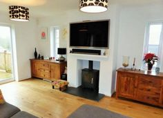 Pictures of tv above fireplace ideas above fireplace ideas over log burner decorating the best on Above Fireplace Ideas, Tv Over Fireplace, Brick Fireplace, Fireplace Gallery, Fireplace Shelves, Fireplace Surrounds, Fireplace Mantels, Best Wood Burning Stove, Log Burning Stoves