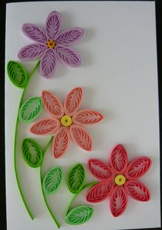 my flowers 8 Paper Quilling Cards, Paper Quilling Flowers, Paper Quilling Tutorial, Paper Quilling Patterns, Origami And Quilling, Quilled Paper Art, Quilling Paper Craft, Quilling Ideas, Paper Crafts