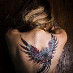 Falling Skies - Maggie's Back Tattoo