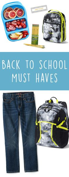 5 Back To School Must Haves that will make school life a little bit easier! Clothing stickers for sweaters make digging through the lost & found a little easier. But those washable & dishwasher safe stickers can also go on lunch boxes, water bottles & backpacks. The jeans that will keep your son's jeans hole free!