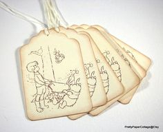 Winnie the Pooh Playtime Tags Christopher by PrettyPaperCottage