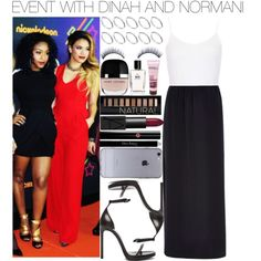 EVENT WITH DINAH AND NORMANI by fifthharmonizer on Polyvore featuring moda, Topshop, River Island, Yves Saint Laurent, ASOS, Giorgio Armani, Christian Dior, Napoleon Perdis, Forever 21 and Bobbi Brown Cosmetics