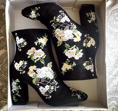 Beautiful embroidered boots by Miss Selfridge