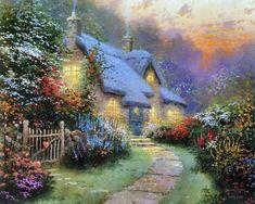 Painting by Thomas Kinkade .