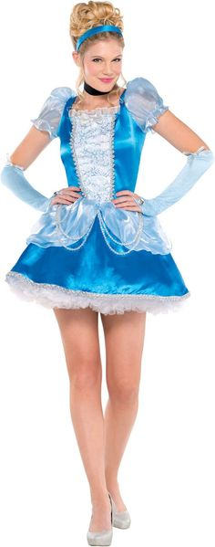Adult Princess Cinderella Costume - Party City ~~ This is the one I wound up getting : ) I might add a rose to the skirt