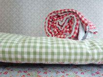 Wickeltischauflage 60x70 abwaschbar Vichy grün
