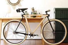 Wooden bike — BSG - I WANT this