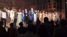"""""""We hope that you will hear us out,"""" the cast of """"Hamilton"""" said to Pence at the end of its show Friday."""