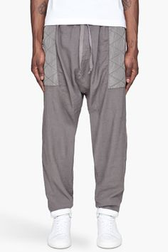 SILENT BY DAMIR DOMA Silver paneled quilted Pants  $390.00