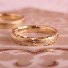 アンティークな印象のマリッジリング  [marriage,wedding,ring,bridal,K18,マリッジリング,結婚指輪,オーダーメイド,ミル打ち,ウエディング,ith,イズマリッジ]