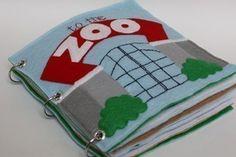 To the Zoo Quiet Book Pattern Busy Book Pattern por CopyCrafts                                                                                                                                                                                 Más