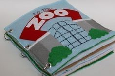 To the Zoo Quiet Book Pattern Busy Book Pattern por CopyCrafts                                                                                                                                                                                 Más