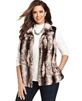 Alfred Dunner Plus Size Faux-Fur Vest | Macy's