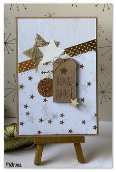 Un jour, une carte sur le CBB - le scrap de MAnnie Christmas Card Crafts, Homemade Christmas Cards, Homemade Cards, Card Making Inspiration, Making Ideas, Cool Cards, Diy Cards, Handmade Birthday Gifts, Star Cards