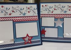 5 pictures Fourth of July 4th holiday layout scrapbook page summer