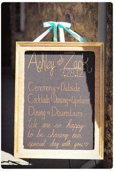 chalk board wedding signs ideas | Chalkboard Signs | Hot Wedding Trends | Wedding Style Ideas | Encore