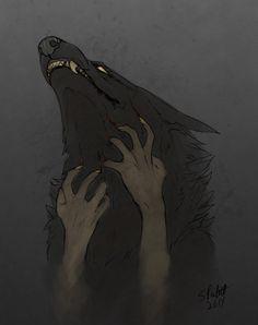 Just a Touch by Oka-Vulsilaak on DeviantArt Fantasy Creatures, Mythical Creatures, Faust Goethe, We All Mad Here, Werewolf Art, Anime Wolf, Arte Horror, Wow Art, Dark Art