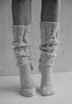 classic hand-knit cable socks
