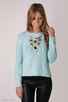 tiffany baby blue knit jumper
